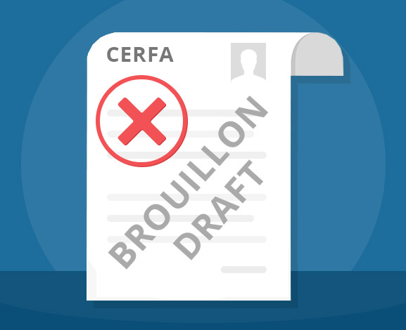 Caution: Cerfa form in draft